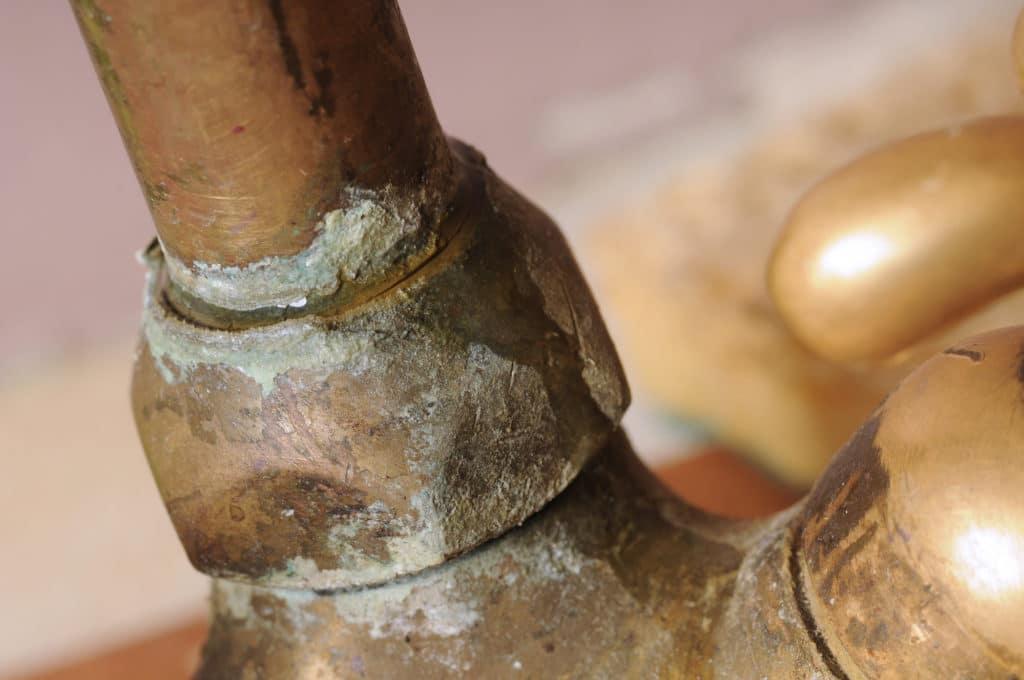 limescale on plumbing