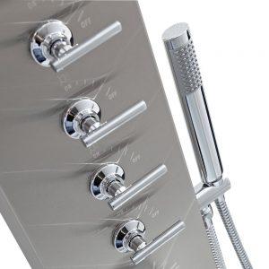 Trueshopping Stainless Steel Thermostatic Modern Bathroom Shower Tower Panel Column