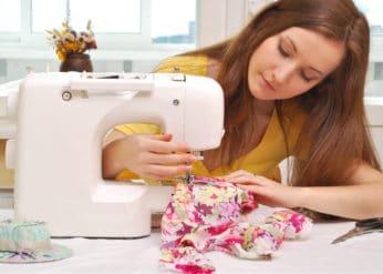 lady doing needlework