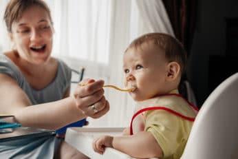 mum feeding her baby