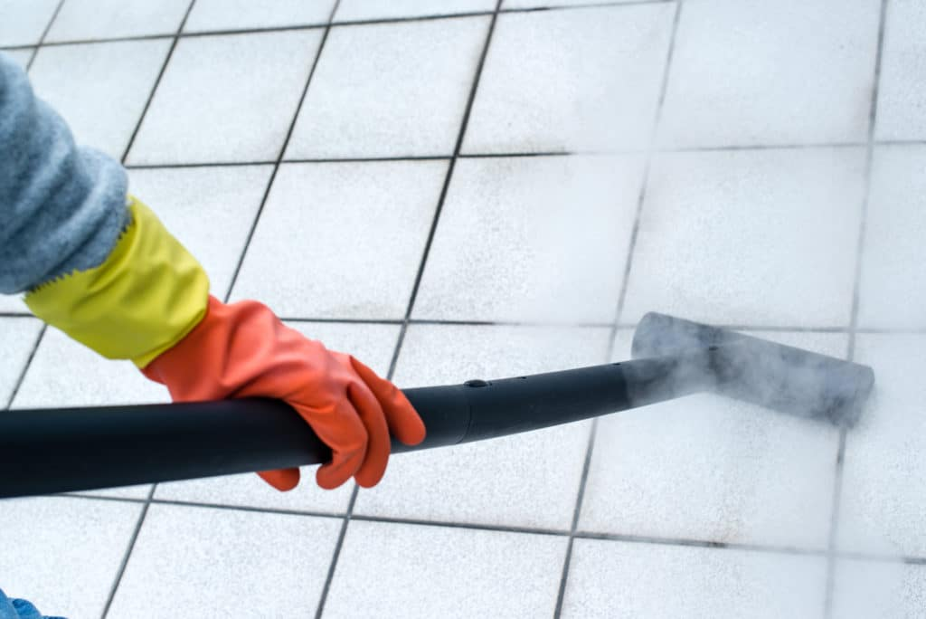 cleaning tiles
