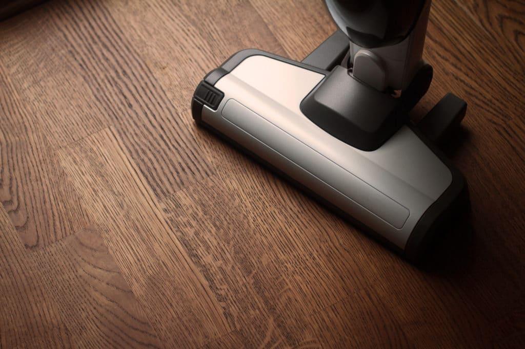 hoover on wooden floor