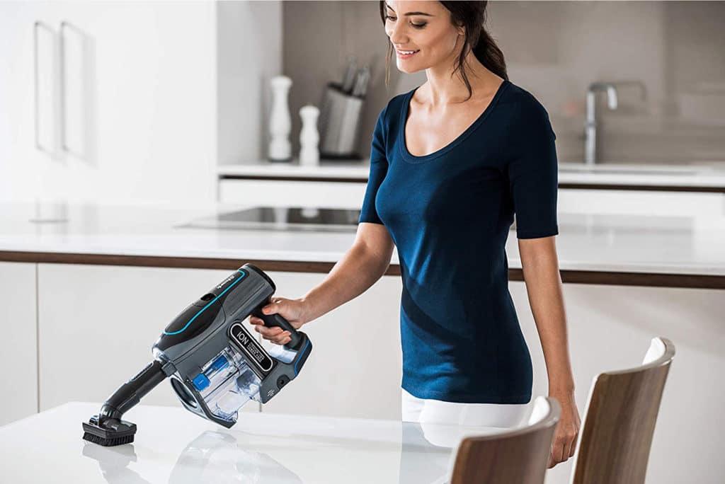 woman using Shark at home