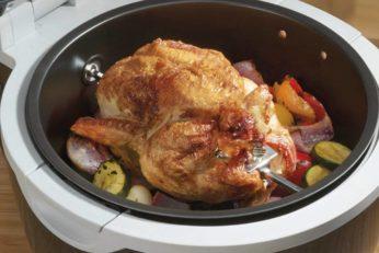 roasting chicken in a halogen oven