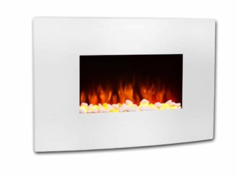 Endeavour Fires Wall Mounted Electric Fire Egton White