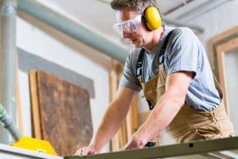 carpenter on the job