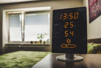 device showing hot temperature at home