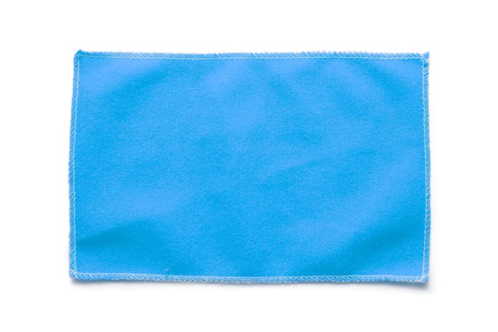 close-up of a microfibre cloth for lenses