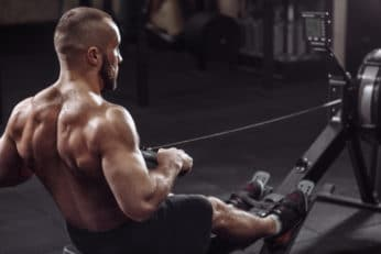 man with a muscular upper back