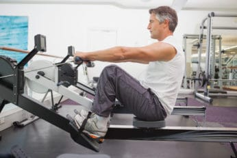 older man working out to stay fit