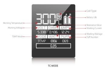 TC mode screen display