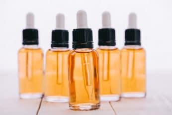 bottles of Cannabidiol oil