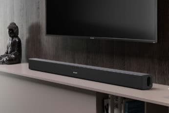 TV and soundbar at home