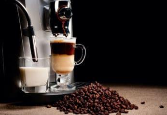 coffee machine up close