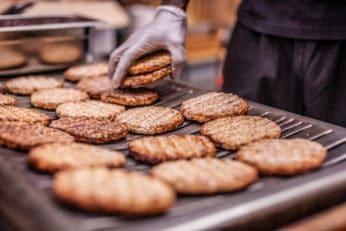 grilling burger patties