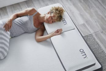 woman on a breathable bed