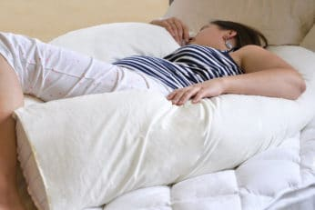 woman using Bedding Direct