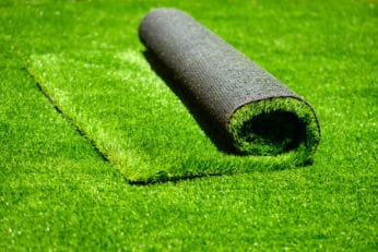 close up of synthetic turf