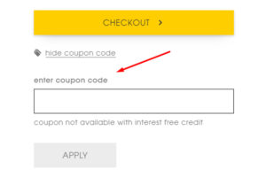 coupon code box