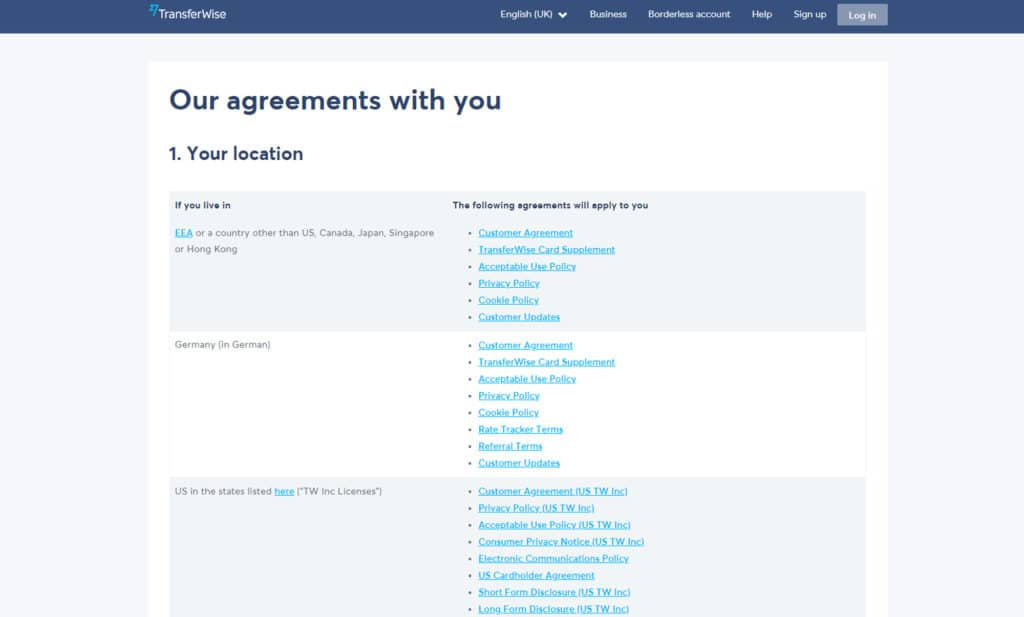 legal agreements