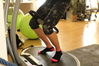 using a vibrating machine for legs