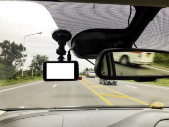 windshield recorder in use