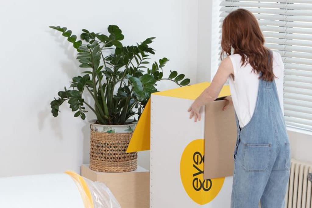 lady opening a box