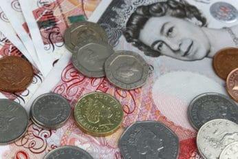 British pounds close up