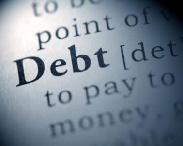 average debt uk