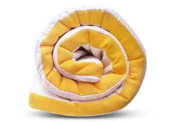 rolled mattress topper