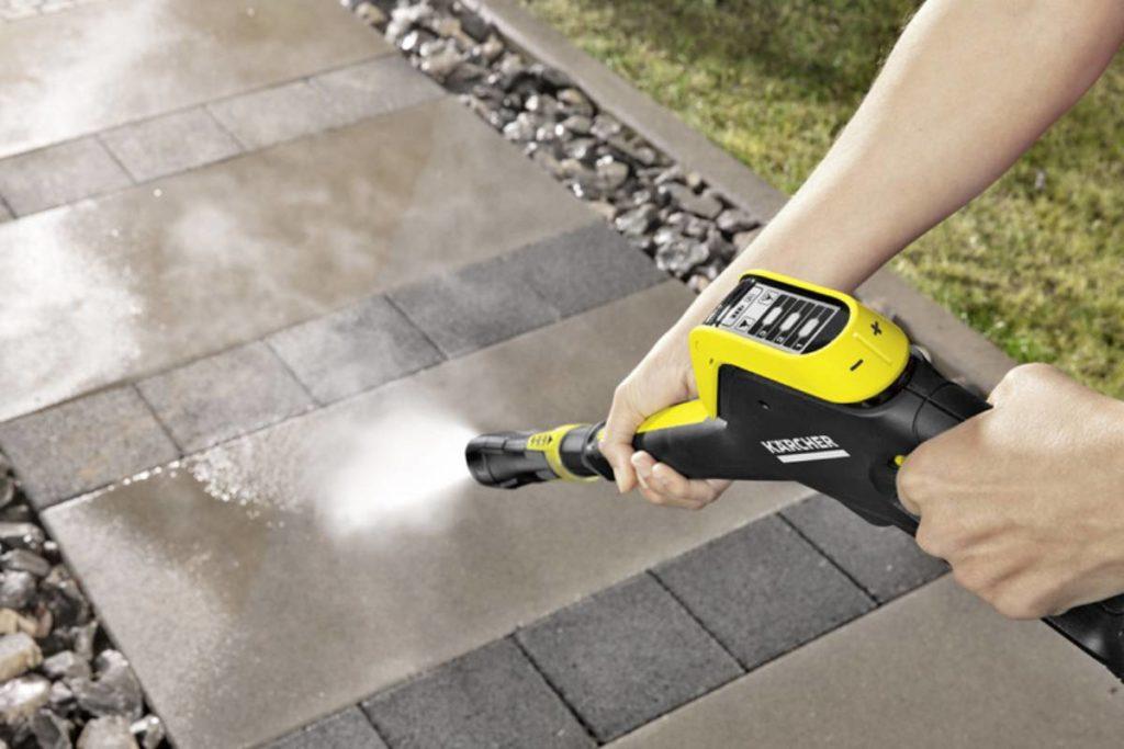 washing pavement with karcher k5