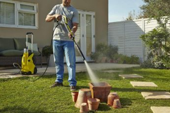 washing pots with karcher k4