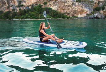SUP to kayaking board