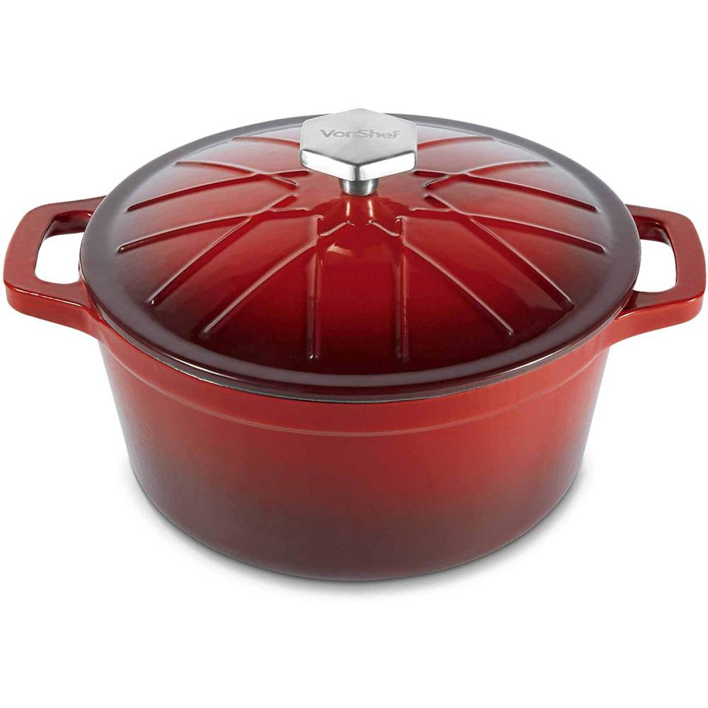 VonShef Cast Iron Red Ombre