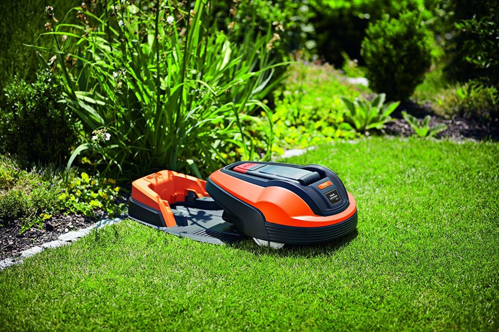 a robot mower's charging station