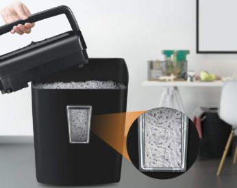 waste bin of a shredder