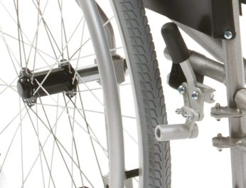 wheelchair user locking brake