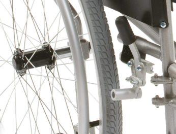 wheelchair user locking brake