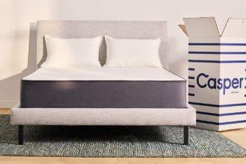 casper mattress beside box
