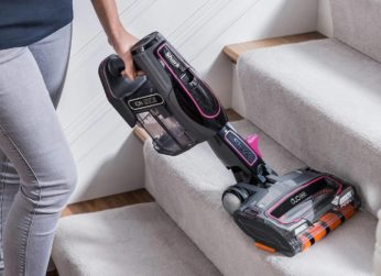 cleaning stairs with a Shark handheld