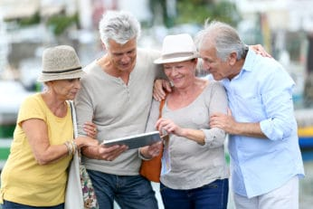 senior tourists on a holiday adventure