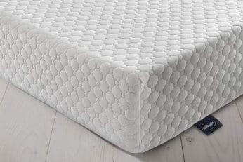 silentnight 7 zone memory foam mattress angle view