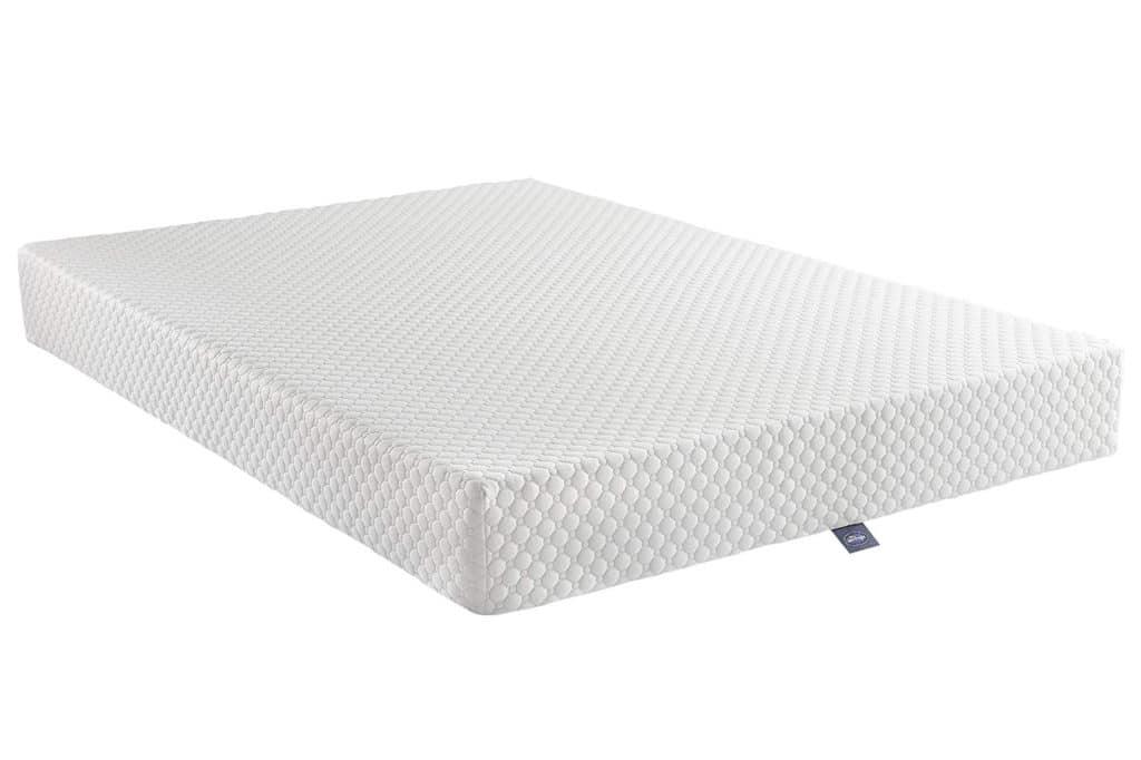 silentnight 7 zone memory foam mattress side view