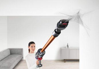vacuuming cobwebs