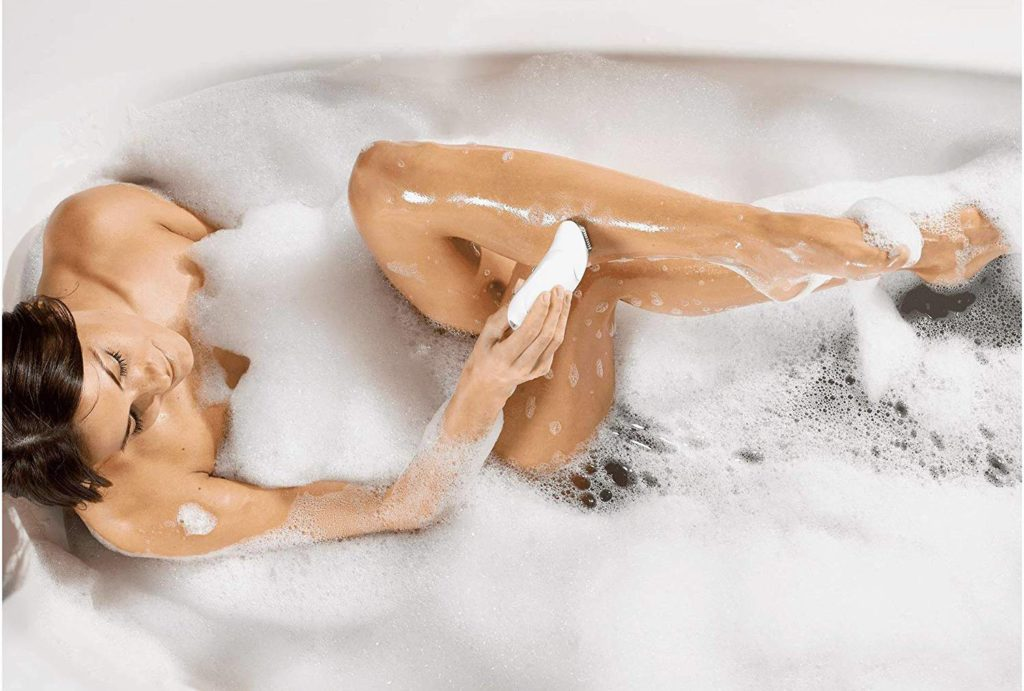 using epilator during bath