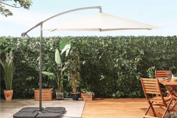 adjustable canopy in a garden