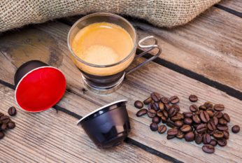 coffee pods, beans, and espresso