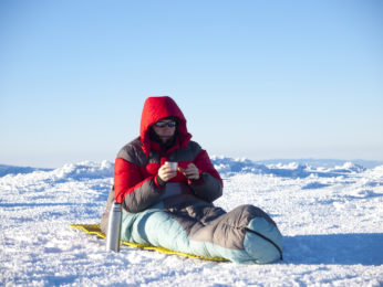 a freezing man in the northpole