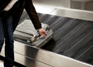 bag on conveyor belt