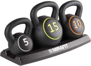 Mirafit 3-Piece Weight Set